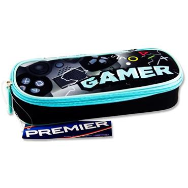 Premier Oval Pencil Case - Gamer