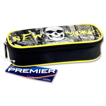 Premier Oval Pencil Case - New York Skull