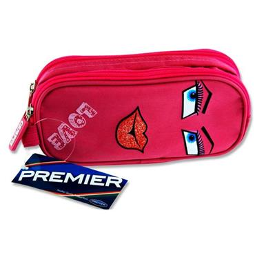 Premier Oval 2 Pocket Pencil Case - Love