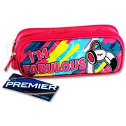 Premier Oval 2 Pocket Pencil Case - I'm Fabulous Flamingo