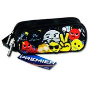 Premier Oval 2 Pocket Pencil Case - Emoji's No Pain !