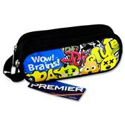 Premier Oval 2 Pocket Pencil Case - Emoji's Wow Brains