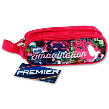 Premier Oval 2 Pocket Pencil Case - Imagination