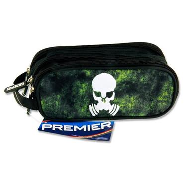 Premier Oval 3 Pocket Pencil Case - Radioactive Skull