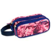 CAMPUS TWIN ZIP PENCIL CASE - PINK SMOKE