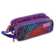 CAMPUS TWIN ZIP PENCIL CASE - DOTS
