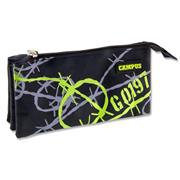CAMPUS 3 POCKET PENCIL CASE - BARBWIRE