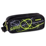 CAMPUS TWIN ZIP PENCIL CASE - BARBWIRE