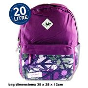 Explore 20ltr Backpack - Purple Peace Hoop