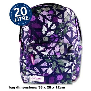 Explore 20ltr Backpack - Purple Peace Full