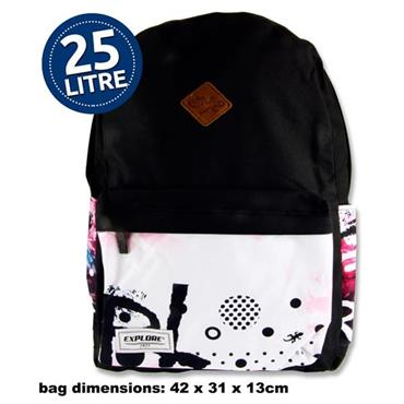 Explore 25ltr Backpack - Black Explore Hoop