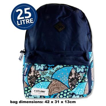 Explore 25ltr Backpack - Tropical Hoop