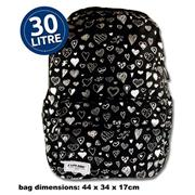 Explore 30ltr Backpack - Black Hearts Full