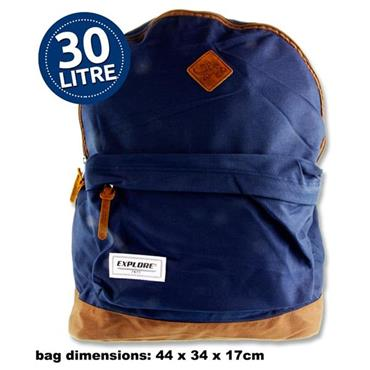 Explore 30ltr Backpack - Bac Pac Navy & Tan