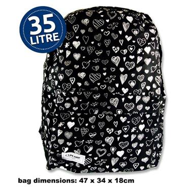 Explore 35ltr Backpack - Black Hearts Full