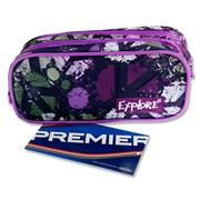 Explore Twin Zip Pencil Case - Purple Peace