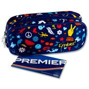 Explore Twin Zip Pencil Case - Peace & Love