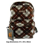 EXPLORE 25ltr BACKPACK - BROWN & WHITE PLAID