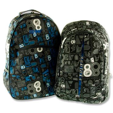 EXPLORE 2-IN-1 BACKPACK - LETTERS WITH BLUE