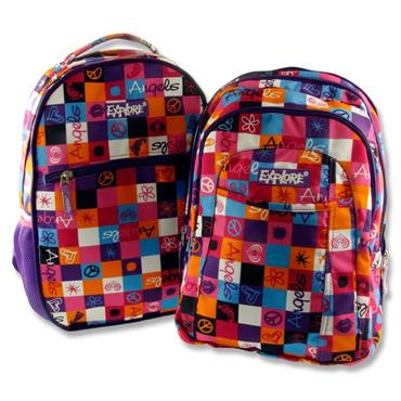 EXPLORE 2-IN-1 BACKPACK - PINK & PURPLE PLAID