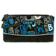 EXPLORE 3 POCKET PENCIL CASE - LETTERS WITH BLUE