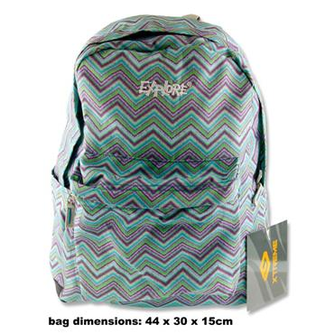 EXPLORE RALLY 30ltr BACKPACK - ZIG ZAG PURPLE & BLUE