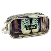 EXPLORE TWIN ZIP PENCIL CASE - SHOES