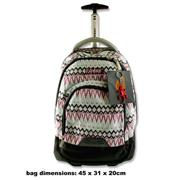 Explore Trolley Backpack - Zig Zag Purple & Blue