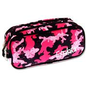 Explore Twin Zip Pencil Case - Pink Camouflage