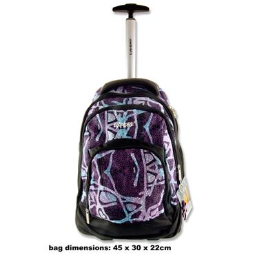 EXPLORE TROLLEY BACKPACK - PURPLE BUBBLES