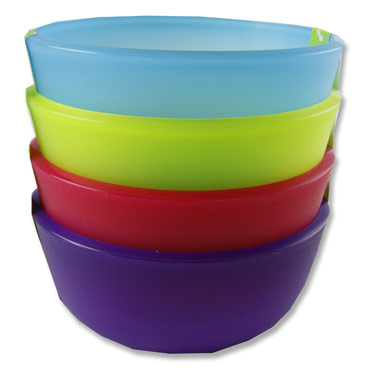 Kids Plastic Bowls Set of 4 Assorted