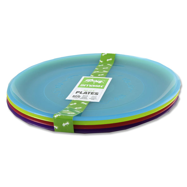 Kids Plastic Plates Set of 4 Assorted View Large Image  sc 1 st  Bumble.ie & Serving Food to Your Child with BPA Free Kids Plastic Plates
