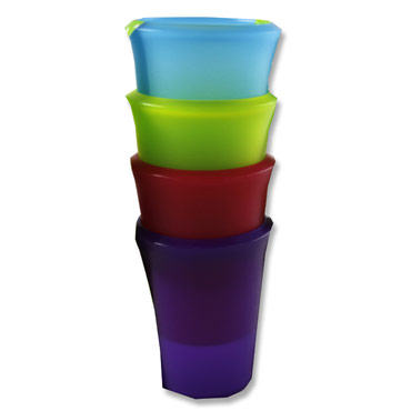 SMASH Plastic Tumblers (Set of 4 Assorted Colours)