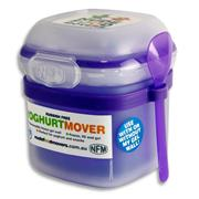 Nude Food Movers Gel Yoghurt Mover with Spoon Bright - Purple