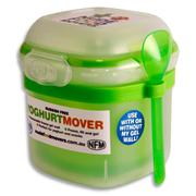 NUDE FOOD MOVER Gel Yoghurt Mover with Spoon Bright - Green