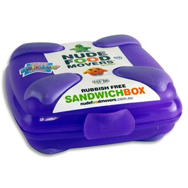 Nude Food Movers Sandwich Box Bright - Purple