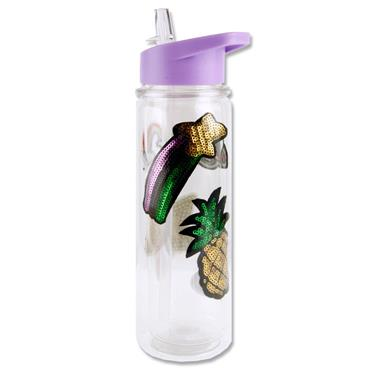 Smash 500ml Twin Wall Patch Bottle - Purple
