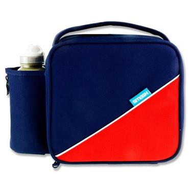Smash Junior Case & 350ml Bottle - Navy & Red