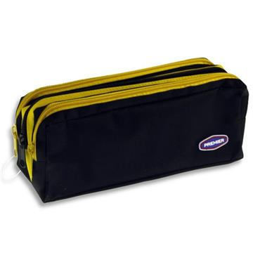 Premier 3 Pocket Zip Pencil Case- 2 Colour